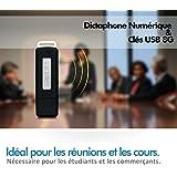 Dictaphone Numérique & Clé USB 8G, Esky® VR-01 Enregistreur-Espion 150 Heures /Flash Drive Digital /Enregistreur audio rechargeable/ Mini Stylo Invisible Disk Drive Noir