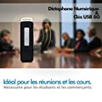 Dictaphone Num�rique & Cl� USB 8G, Es...