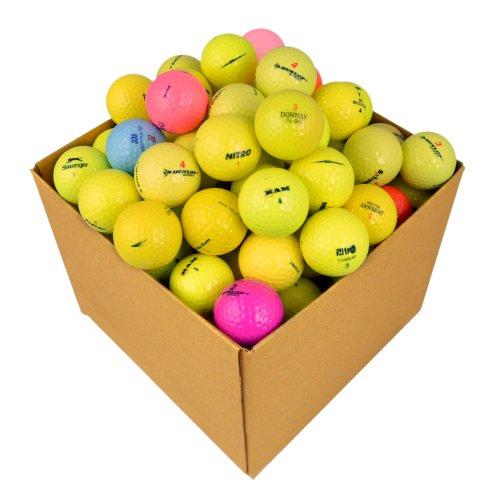 Second Chance Golfbälle 100 Farbige Optic  Qualitäts, weiß, OPT-100-BOX