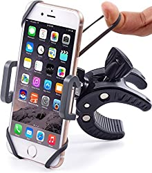Bike & Motorcycle Phone Mount - For iPhone (5, 6, 6s Plus), Samsung (Galaxy & Note) or any Cell Phone - Universal Mountain & Road Bicycle Handlebar Holder. +100 to Safeness & Comfort