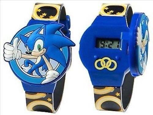 Sega Watches low price: Sonic Flip Top LCD Watch