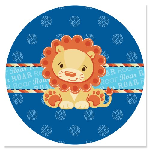 Lion Boy - Circle Sticker Labels (1 Sheet Of 24) front-142991