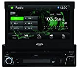 Jensen VX3010 7-Inch TFT Car Stero 1.0 DIN MultiMedia Receiver with Built-In Bluetooth and Ext Mic/USB/App Control