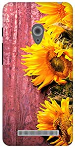 The Racoon Lean Fresh Sunflowers hard plastic printed back case for Asus Zenfone 5 A500CG/A501CG