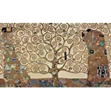 The Tree Of Life - Stoclet Fri By Klimt, Gustav - Fine Art Print On CANVAS : 33 X 19 Inches