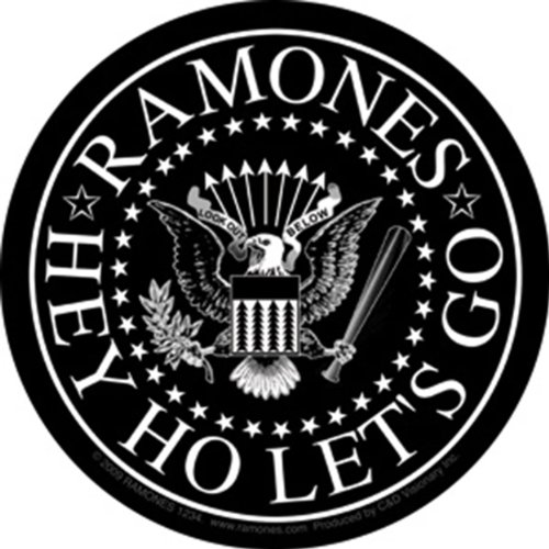 Licenses Products Ramones Black Eagle Sticker