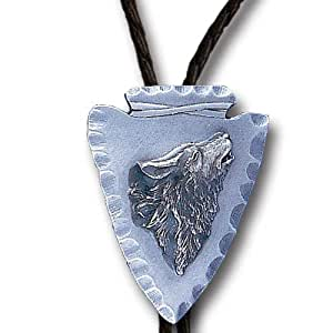 Amazon.com: Arrowhead Wolf Bolo Features Fully Cast Metal Tie Piece on