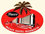 TRAVEL TOURISM HOTEL ADVERT PALACE MONROVIA LIBERIA PALM FINE ART PRINT POSTER 30x40cm CC2036