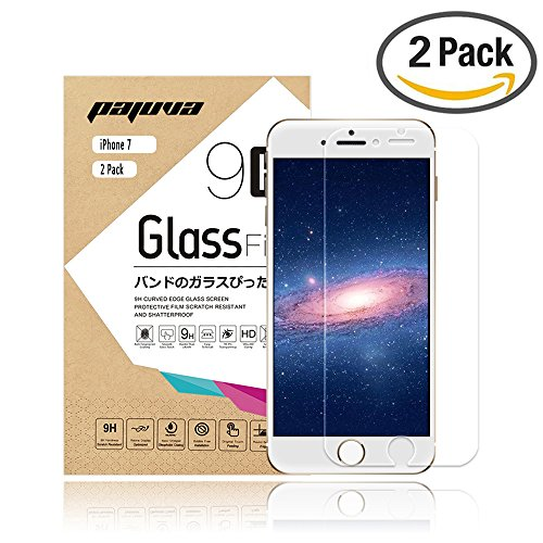 iPhone 7 Tempered Glass Screen Protector, Pajuva 0.2mm 2.5D Rounded Egde for Apple iPhone 7 (2 Pack) (Heat Sensitive Iphone Case compare prices)