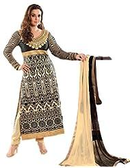 DivyaEmporio Women's Resham Salwar Suit Dupatta Unstitched Dress Material (Free Size) - B00V0IAR6S