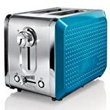 BELLA 13741 Dots Collection 2-Slice Toaster, Teal