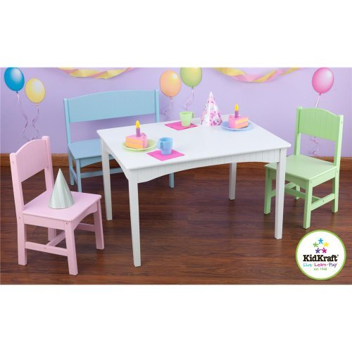 Fine Kidkraft Nantucket Table With Bench And Christmas Deals Machost Co Dining Chair Design Ideas Machostcouk
