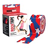 RockTape Kinesiology Tape for Athletes - 2-Inch x 16.4-Feet (Stars and Stripes)
