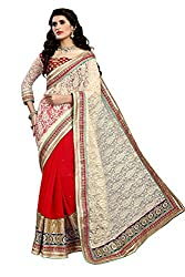 coolwomen women's georgette embroidered free size fancy saree-cw_NMD2A201_red_free size