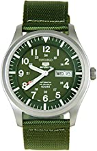 Comprar Seiko SNZG09K1 - Reloj con correa de tela para hombre, color verde / gris