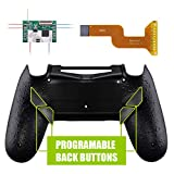 eXtremeRate Dawn Programable Remap Kit for PS4 Controller with Mod Chip & Redesigned Back Shell & 4 Back Buttons - Compatible with JDM 040/050/055 - Textured Black (Color: Textured Black)