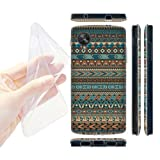 Head Case Designs Blue Amerindian Patterns Gel Back Case Cover for LG Google Nexus 5 D820 D821