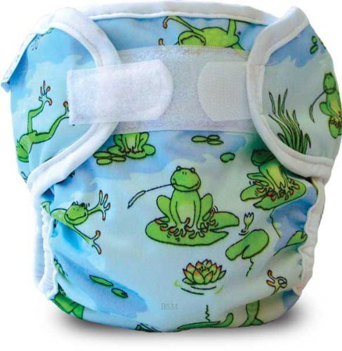 Bummis Super Whisper Wrap, Froggy Pond, 15-30 Pounds front-92510