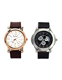 Veens Multicolor Dial Combo Pack Of 2 Boys/Gents/Mens Wrist Watch DW1083 Bd