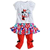 Disney Baby Girls Minnie Mouse Tee and Skirted Leggings Set