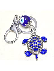 Metallic Keychain With Turtle Evil Eye Protection Car Hanging Feng Shui