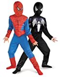 Reversible Spider-Man Red To Black Classic Costume, Child M(7-8)