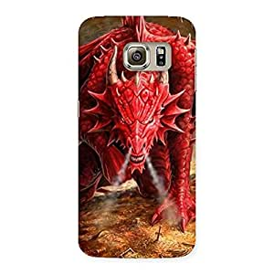 Gorgeous Red Fantastic Dragon Back Case Cover for Samsung Galaxy S6 Edge Plus