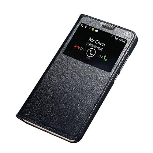 KaiTelin Huawei Nova Plus Custodia Pelle Shield Custodia Smart Cover Case per Huawei Nova Plus - Nero