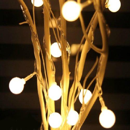 Adsled Led Lights Tree Window Flower Christmas Light 25Led (Warm White)