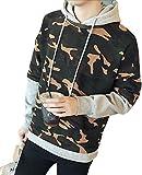 (アルファーフープ) α-HOOP メンズファッション カモフラ フード付き プルオーバー パーカー 長袖 上着 迷彩服 アウター 大きいサイズ も S ~ XXL まで DP-2 (06.グレー(S))