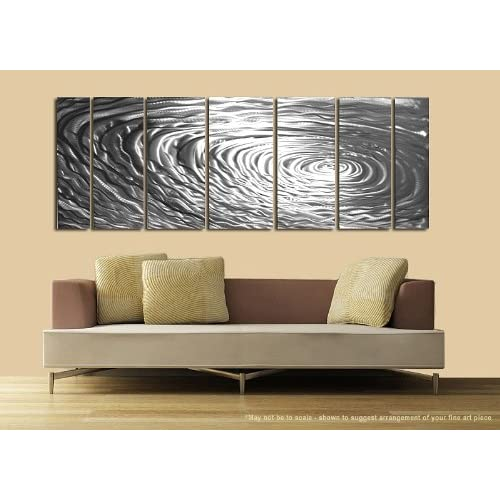 Ripple Effect Modern Abstract Metal Wall Art Painting Decor Sculpture