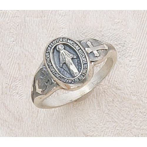 Amazon Com Ladies Sterling Silver Miraculous Virgin Mary