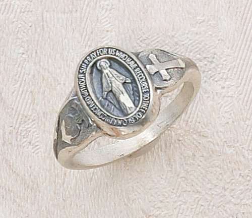 Ladies Sterling Silver Miraculous Virgin Mary