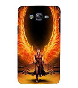printtech Flaming Wings Man Back Case Cover for Samsung Galaxy Core 2 G355H