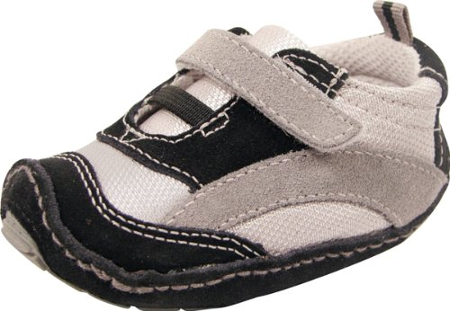 Baby Deer Trainer 5916 Light Gray Mesh and Black Suede