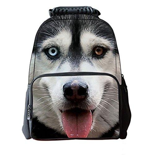 OrrinSports-Felt-Fabric-School-Backpack-Bags-3D-Dogs-Print-Cute-Casual-Laptop-Daypacks-16