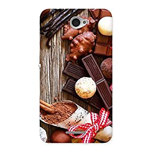 Ajay Enterprise Rel Chocolate Candies Multicolor Back Case Cover for Sony Xperia E4