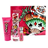 Christian Audigier Ed Hardy Julia Coffret: Eau De Parfum Spray 50ml/1.7oz + Shimmering Body Lotion 90ml/3oz + Eau De Parfum Spray 7.5ml/0.25oz - 3pcs