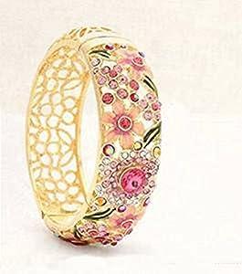 XT-XINTE Retro Ethno-Stil Armband Armreif Modeschmuck für Frauen Damen Farbe Rosa