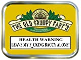 CUTTERS CHOICE OLD GRUMPY FART'S 2oz TOBACCO TIN,PILL BOX,BACCY TIN,GOLD TIN