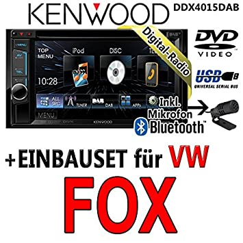 Kenwood-vW fox dDX4015DAB-cD uSB autoradio multimédia 2 dIN avec kit de montage
