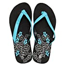 Ladies/Womens Flower Pattern Summer/Beach Wear Flip Flops