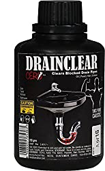 CERO DRAINCLEAR 100% Pure Lye (DRY POWDER) to Clear Clogged Drains, Sinks and Pipes (200g)