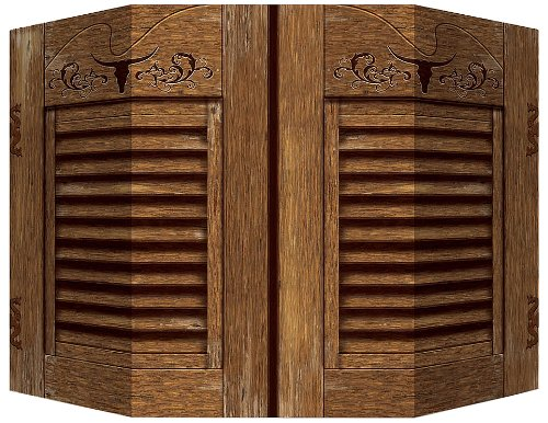 Western Photo Prop (1 side saloon doors; other side hay bale) Party Accessory  (1 count) (1/Pkg)