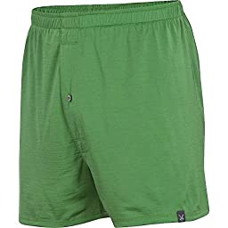 Ibex Outdoor Clothing Men\'s W2 Standard Boxer, Gecko, Large