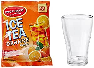 Wagh Bakri Orange Ice Tea, 250g with Free Glass