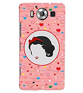 PRINTVISA Abstract Love Girl Case Cover for Nokia Lumia 950::Microsoft Lumia 950