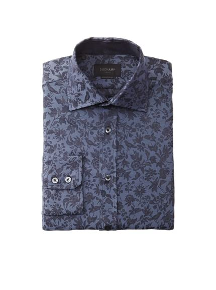 Duchamp Men's Bird & Floral Dress Shirt