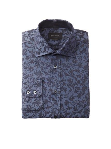 Duchamp Men's Bird & Floral Dress Shirt