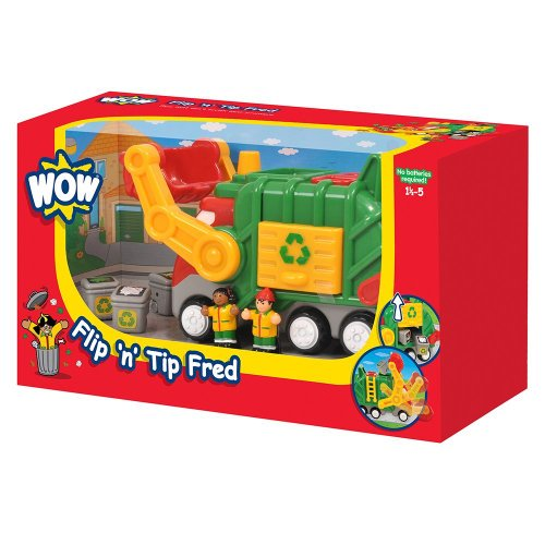 Toy / Game Wow Flip 'N' Tip Fred - Service Vehicle (6 Piece Set) - Stimulate Learning Through Creative Play (Wow Trash Truck compare prices)